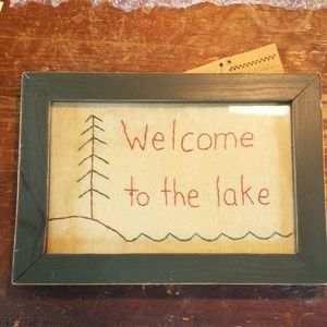 Primitives by Kathy, Welcome to the lake picture